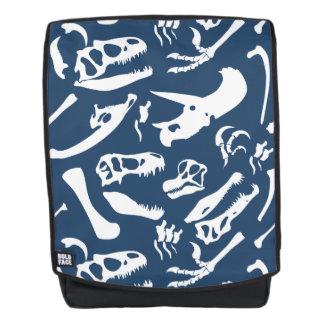 Dinosaurier-Knochen (blau) Rucksack