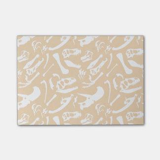 Dinosaurier-Knochen (Gold) Post-it Klebezettel