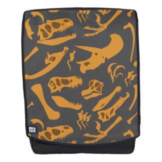 Dinosaurier-Knochen (grau) Rucksack