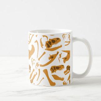 Dinosaurier-Knochen Kaffeetasse