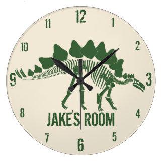 Dinosaurier-Knochen personalisiert Große Wanduhr