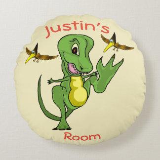 Dinosaurier-kundenspezifisches rundes Wurfs-Kissen Rundes Kissen