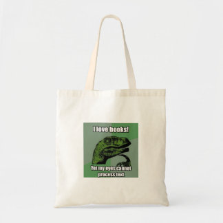 Dinosaurier lasen Bücher Tragetasche