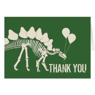 Dinosaurier mit Ballonen danken Ihnen Karte
