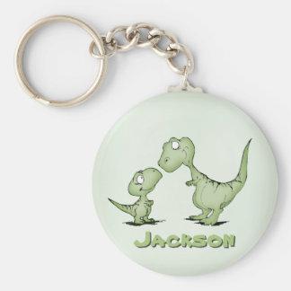 Dinosaurier personalisiert schlüsselanhänger