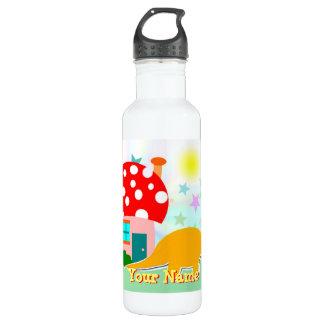 Dinosaurier-Pilz-Haus-Flasche Trinkflasche