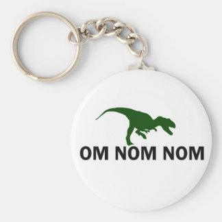 Dinosaurier Rawr OM Nom Nom hat Hunger Standard Runder Schlüsselanhänger