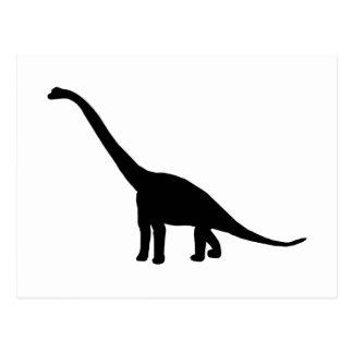 Dinosaurier-Schatten Dino des Brontosaurus-  Postkarte