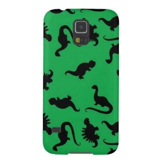 Dinosaurier-Silhouetten auf grünem Galaxy S5 Cover