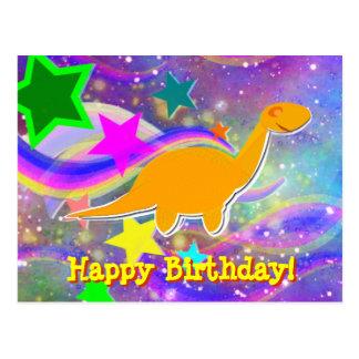 Dinosaurier-Stern-u. Wirbels-alles- Gute zum Postkarte