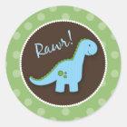 Dinosaurier-Umschlag Aufkleber, Runder Aufkleber
