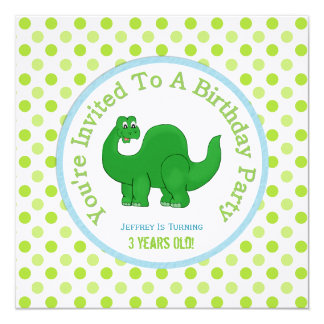Dinosaurier und Tupfen: Party Einladung