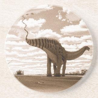 Dinosaurier-UntersetzerBrontosaurusSepia Gregory Sandstein Untersetzer