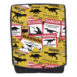 Dinosaurier-Vorsicht-Zeichen Rucksack
