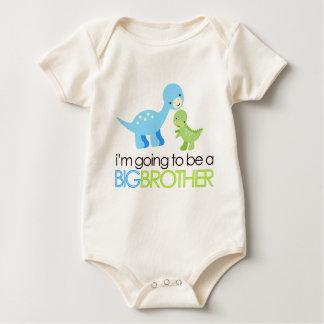 Dinosaurier werde ich ein großer Bruder sein Baby Strampler