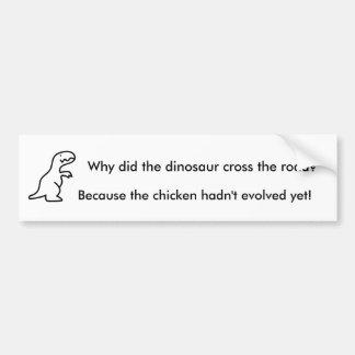Dinosaurier-Witz-Autoaufkleber Autoaufkleber