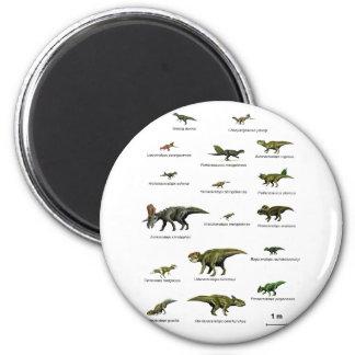 Dinosauriernamen Runder Magnet 5,1 Cm