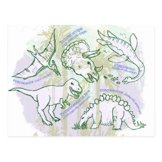 Dinosaurierpostkarte Postkarte