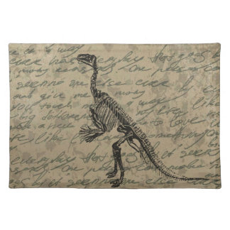 Dinosaurierskelett Stofftischset