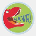 DinosaurierTyrannosaurus Rex Runder Aufkleber