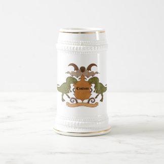 Dinosaurierwappen - kundengerecht bierglas