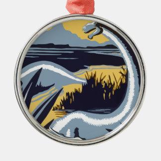 Dinosaurs Silbernes Ornament