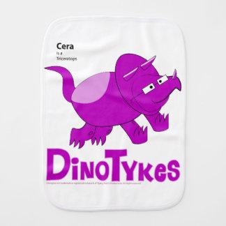Dinotykes Cera ist ein Triceratops. Burp-Stoff Spucktücher