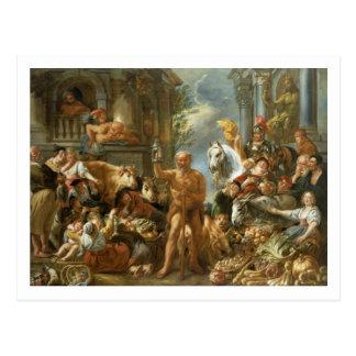 Diogenes, der nach einem ehrlichen Mann, c.1650-55 Postkarte