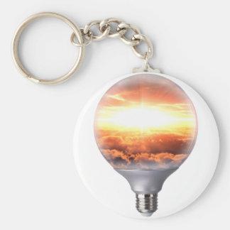 Diorama-Sonnenaufgang-Glühlampe Schlüsselanhänger