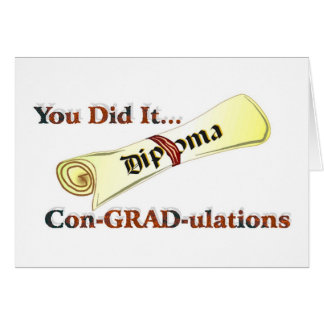 Diplom-Glückwünsche Grußkarten