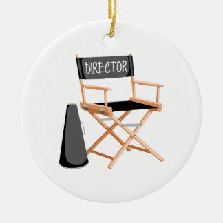 Direktor Chair Rundes Keramik Ornament