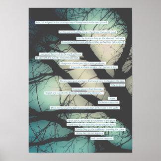 Dirge ohne Musik-Beileidskarte Poster