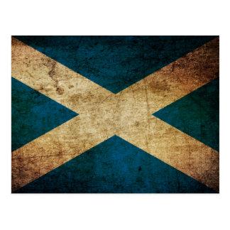 Dirty Scottish Flag Postkarte
