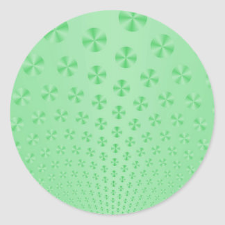 Disc auf tadellosem grünem Aufkleber