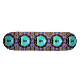 Disc-Golf-abstrakter Korb 3 Bedruckte Skateboarddecks