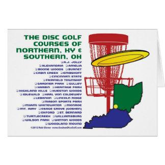 Disc-Golf Ohios Kentucky Karte