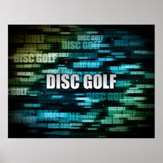 Disc-Golf Posterdruck