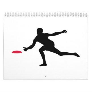 Discgolf Spieler Abreißkalender