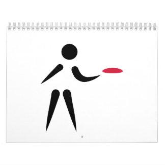 Discgolfspieler Abreißkalender
