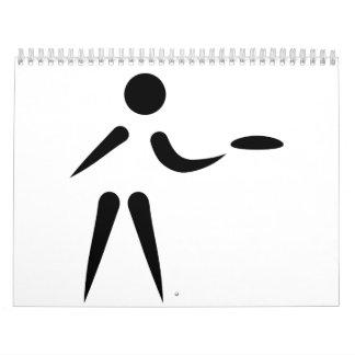 Discgolfspieler Kalender