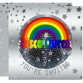 Disco-Ball 70er des Karte