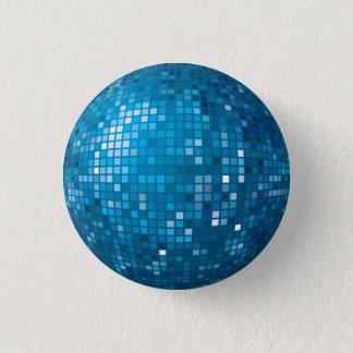 Disco-Ball-Blau-Knopf Runder Button 3,2 Cm