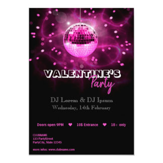 Disco-Ball des Valentines Tages- Party Einladung