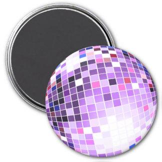 Disco-Ball, Glitter-Ball oder Spiegelball Runder Magnet 7,6 Cm