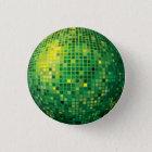 Disco-Ball-Grün-Knopf Runder Button 3,2 Cm