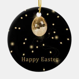 Disco-Ball-Osterei - Verzierung Keramik Ornament