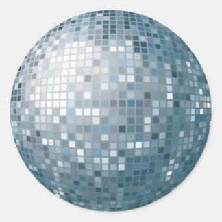 Disco-Ball-Silber-Aufkleber