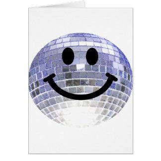 Disco-Ball-smiley Grußkarte