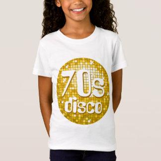 """Disco deckt angepasstes Weiß """"Gold"""" Siebzigerjahre T-Shirt"""
