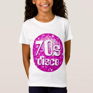 Disco deckt angepasstes Weiß rosa Siebzigerjahre T-Shirt